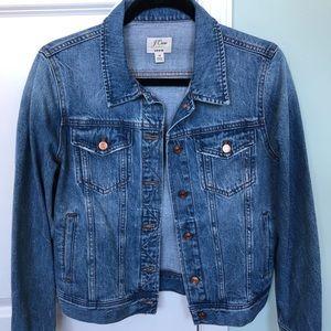 NWOT JCrew Classic Denim Jacket - size Medium